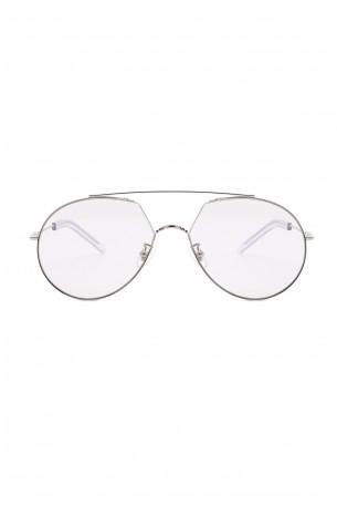 Designed Thin Silver Frame Sunglasses  HAPPY