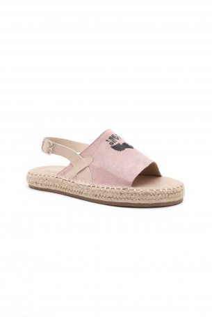 Ash Pink Suede Sandals PINK SEVEN