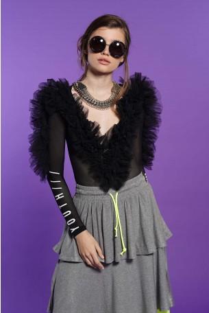 Black Sheer Bodysuit NIGHT GLAM