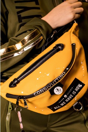 Yellow Waist Pouch Designed Bag ALL WE HAVE
