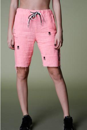 Pink Linen Bermuda Pants EVERY