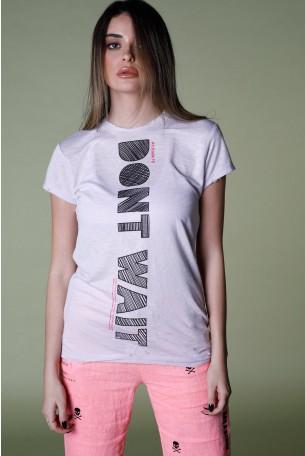 Light Purple Designed T Shirt DON'T