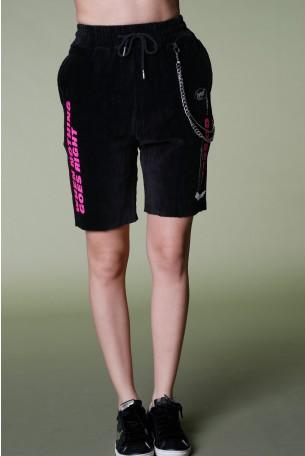 Black Corduroy  Bermuda Pants SEVEN