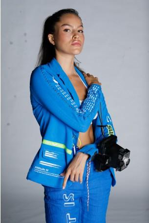 Blue Pullover Blazer Cut  Jacket ONE WAY