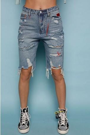 Blue Denim  Bermuda Pants 770