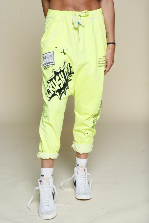 Neon Yellow Jogger Pants CRUSH