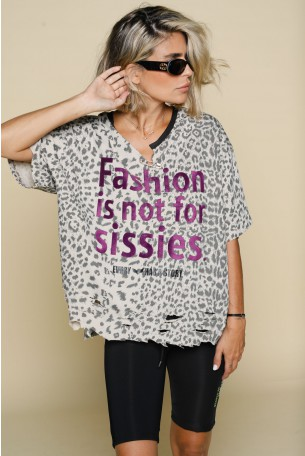 Beige Leopard T Shirt AWESOME
