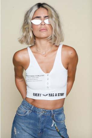 White Crop Top INSTRUCTIONS