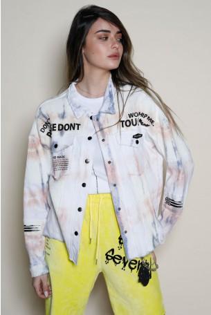 Unique Design Tie Dye  Jacket Top  TOUCH