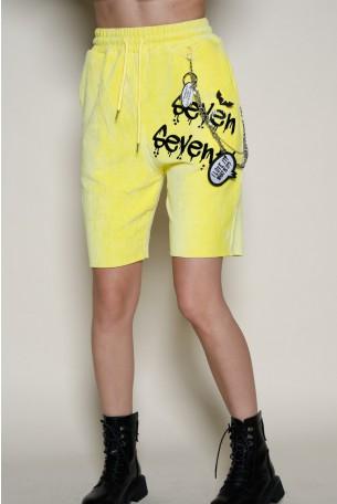 Yellow Corduroy  Bermuda Pants SEVEN
