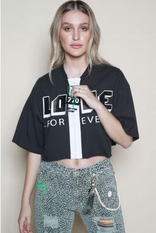 Black Zipper Top LOVE
