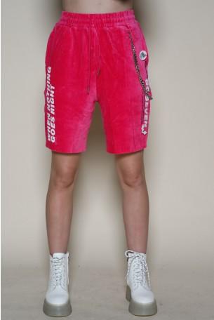 Pink Corduroy  Bermuda Pants SEVEN