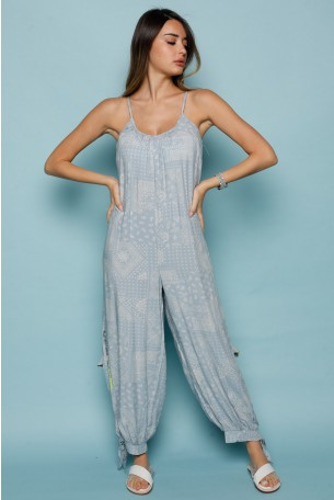 Light Blue Colors Sleeveless  Long Overall THE 770