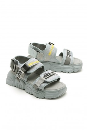 Gray Light Blue Color Sandals BKLYN