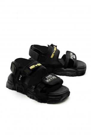 Black Color Sandals BKLYN