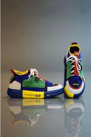 High Top Multicolor Sneakers COLOR SKULL