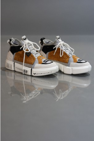 High Top Gray and Mustard Colors Sneakers COLOR BLOCK