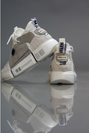 High Top Gray Colors Sneakers COLOR BLOCK