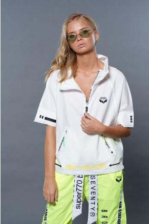Wide Cut Short Sleeve White  Top ORIGINS