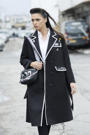 Long Black Blazer Designed Coat  TYPE