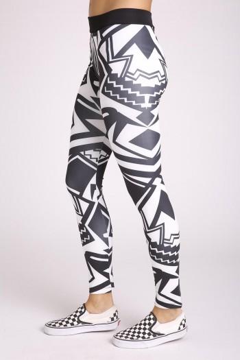 Black and White Leggings GEO