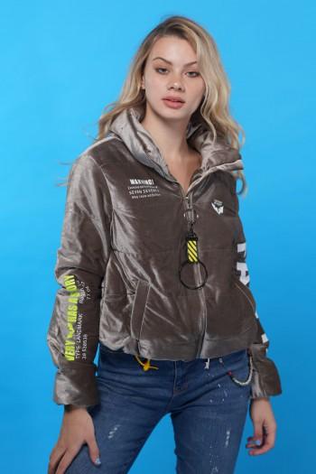 Gray Velvet Coat Jacket  BACK PACK