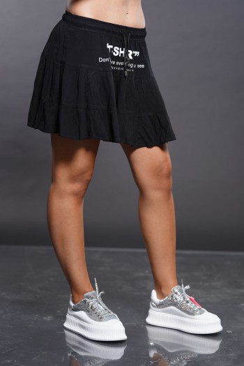 Black Mini Skirt T SKIRT