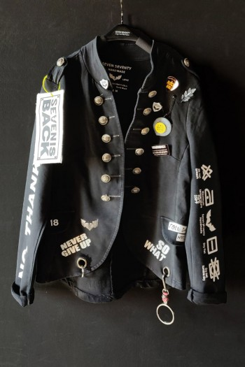 One of a Kind Black Blazer Jacket BELIEVE
