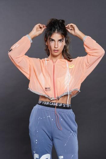 Orange Top Jacket Short Cut FOLLOW