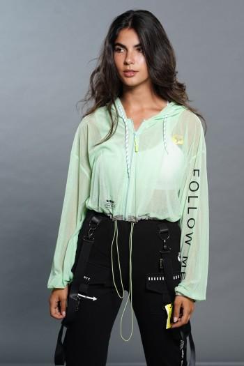 Green Top Jacket Short Cut FOLLOW