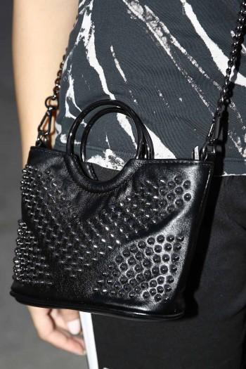 Cross Body Black Studs Bag GLAM