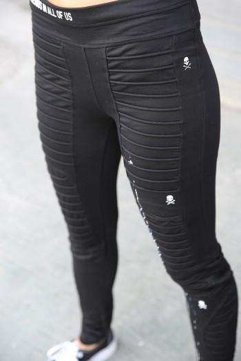 Black Designed Leggings US
