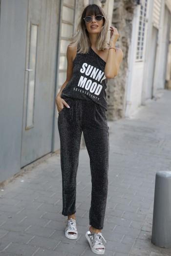 Black Lurex Pants & Tank Suit SUNNY MOOD