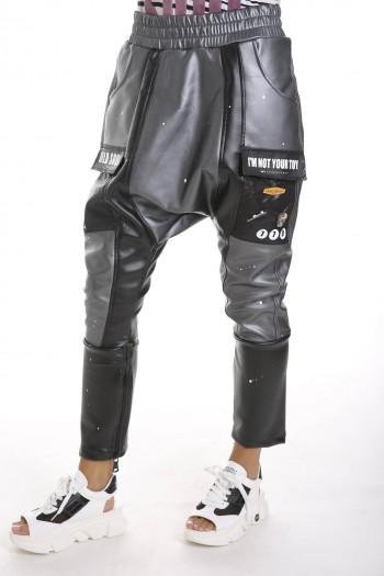 Black Vinyl Jogger Pants BEAUTIFUL
