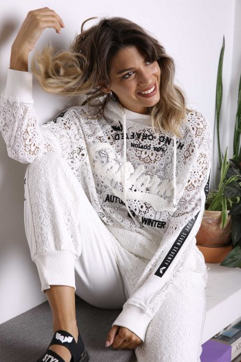Ivory Pullover and Lace Suit WINTER