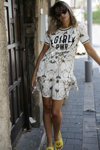 Golden  Floral  Mini Dress GIRL PWR