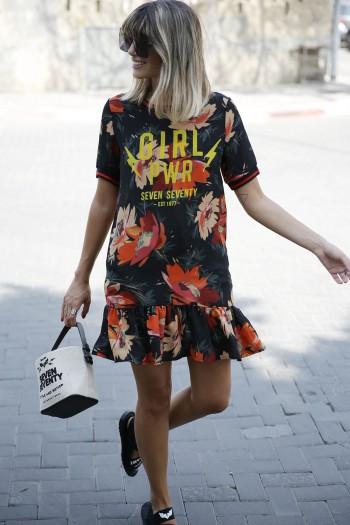 Black Floral  Mini Dress GIRL PWR