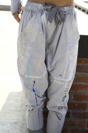 Gray Drop Crotch Pants SUPER 770