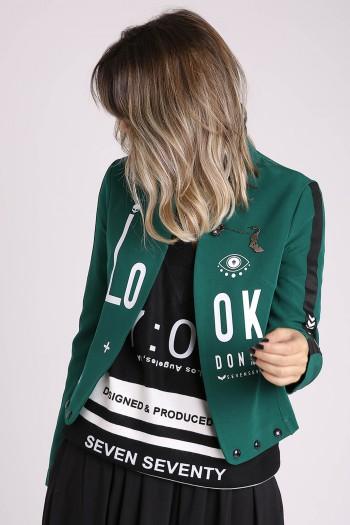 Decorated Green Designed Blazer OK