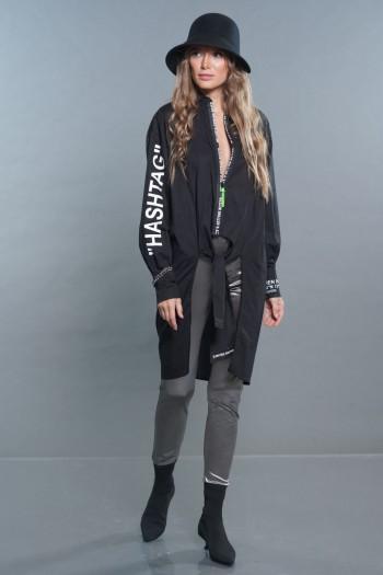 Black Designed Jacket Top HASHTAG
