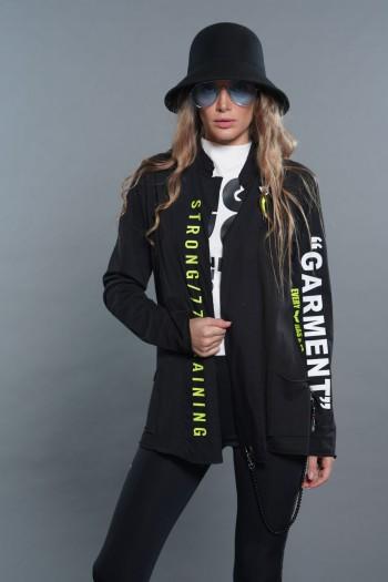 Black Cotton Blazer Jacket WHATEVER