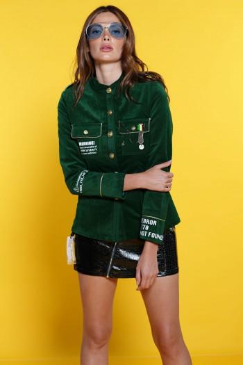 Green Buttoned Up Shirt - Jacket WARNING