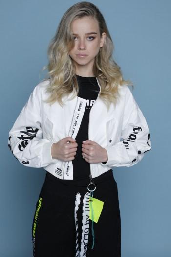 White Pilot Style Jacket STYLE