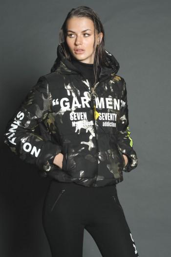 Black Camouflage Coat Jacket GARMENT