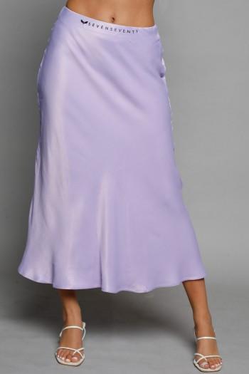 Light Purple Midi Satin Skirt SEVEN
