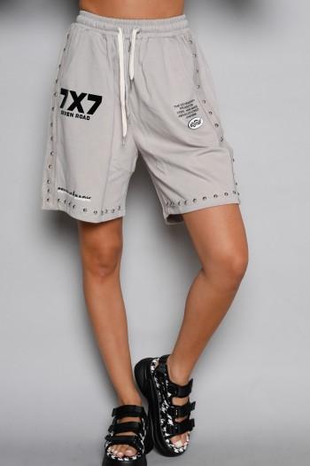 Beige  Gray Pullover  Bermuda Pants SEVEN ROAD