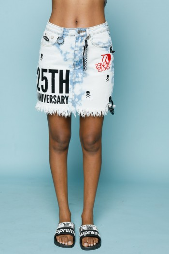 Tie Dye Denim Mini Skirt ANNIVERSARY