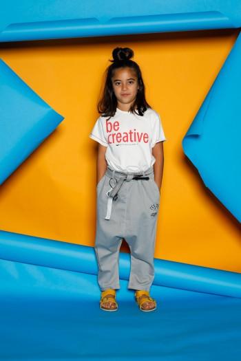 White  Kids T Shirt  BE CREATIVE