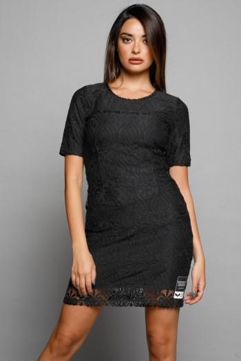 Black Lace Mini Evening Dress MADAM