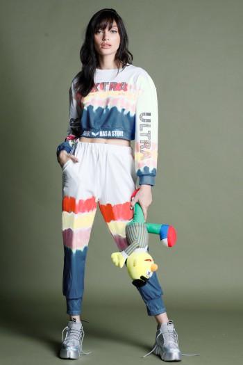 Multicolor Tie Dye Two Piece Jogger Set EXTRA